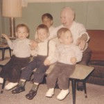 All Four Boys including Steve with Grandpop Mazis