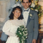 Dave and Addie on their wedding day